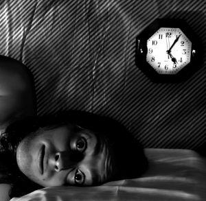 sleep problem image with clock