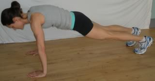 Mountain pose- Burpie plank position