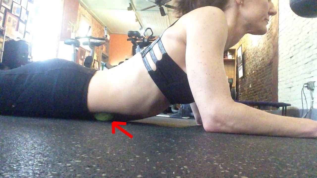 psoas release with tennis ball